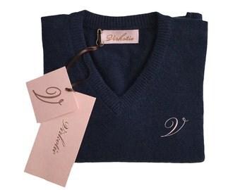 Virkotie NAVY 100% Cashmere Sweater