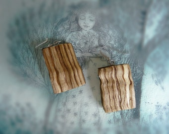 wooden jewelry, earrings, wood