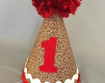 Sock Monkey 1st Birthday Hat