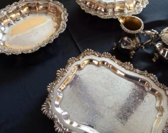Beautiful Vintage International Silver Plate Serving Ware - FREE Domestic Shipping!
