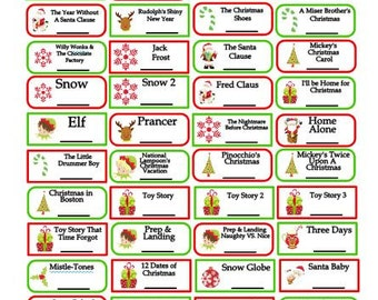 ABC Family's 25 days of Christmas TV Show Stickers