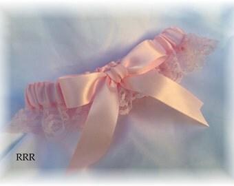 Light Pink Lace Wedding Bridal Garter, Pink Bridal Garter, Lace Bridal Garter,  Lace Wedding Bridal Garter, Light Pink Wedding Garter