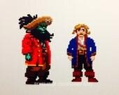 Lucasart's Inspired Monkey Island 2: LeChuck's Revenge Magnet Set Featuring Guybrush Threepwood & Zombie Pirate LeChuck