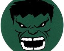 Marvel's The Incredible Hulk Face Logo Scrapbook Die-cut