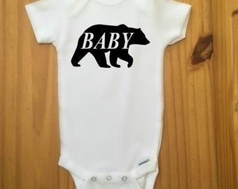 Baby Boy Clothing, Baby Bear Boy Onesie, Bodysuit For Baby