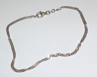 Bracelet cord/link bracelet in 925 Silver twisted design SA150