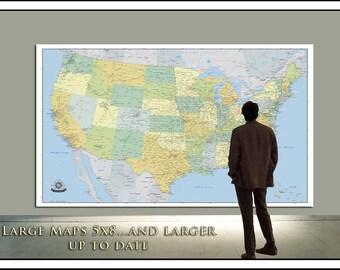 Large us map Etsy