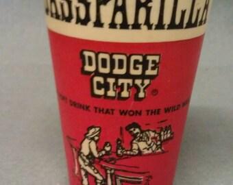 Sassparilla Dodge City Soft Drink Paper Cup