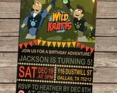 Wild Kratts Birthday Invitation-Wild Kratts Invitation-Wild Kratts Birthday Party-Wild Kratts-DIY Printable Wild Kratts Invitation-Adventure