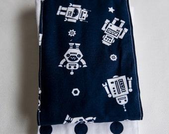 Free Shipping Spring !! Robot Burp cloth
