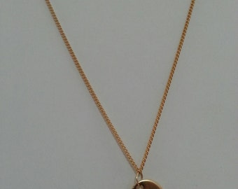 Gold Heart Necklace    .Elegant necklace for women 74 cm long