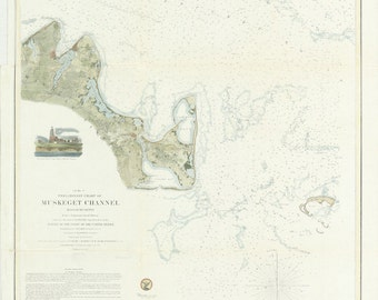Muskeget Channel Nautical Chart 1855