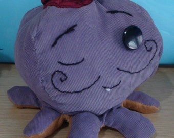 Octopus with a hat handmade stuffed toy