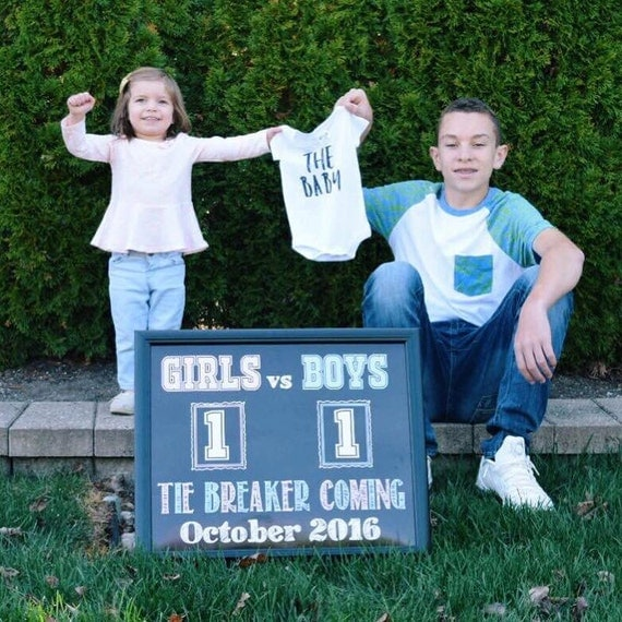 Tie Breaker Pregnancy Announcement Tie Breaker Baby