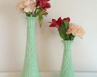 Mint Green Decor, Mint Vases, Mint Green Centerpieces, Mint Green Bud Vases, Pastel Vases, Mint Green Decor, Wedding, Baby Shower