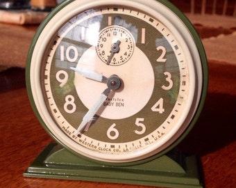Vintage Baby Ben mechanical alarm clock- custom paint and fresh service