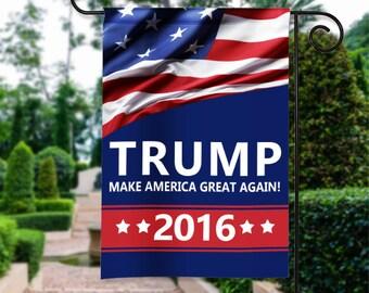 donald trump make america great again election american flag patriotic garden flag yard sign banner