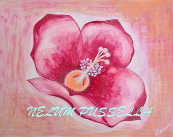 Red Flower-Giclee print of Watercolor painting