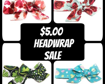 Rose Headwrap ~ St. Patrick's Day ~ Easter Headwrap ~ Hair Accessories ~ Spring Headband ~ Baby Bows ~ Unique Gift