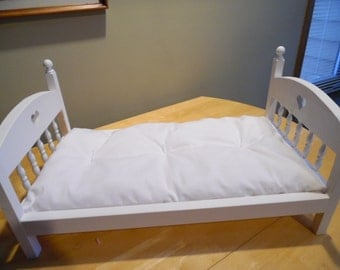 "White Mattress  ~ made for 18"" Doll Beds ~ American Girl Our Generation Dolls"