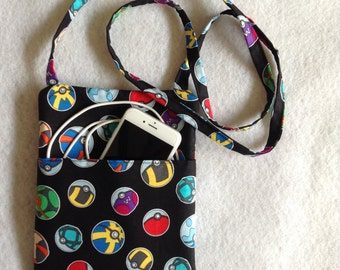 Pokemon Crossbody Purse, sling purse, small purse, travel purse, PD, messenger bag