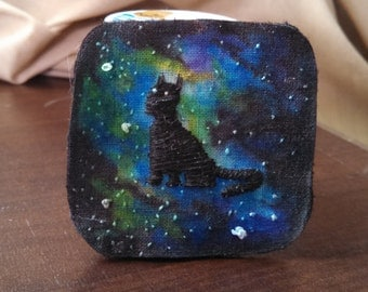Galaxy Cat Brooch