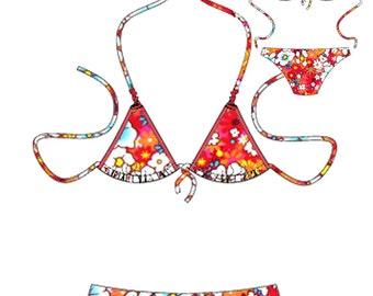 Triangle Bikini Women s sewing pattern size 8 to 22