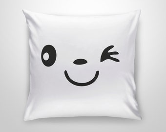 Smile Face Funny Pillow  - Micro Polyester