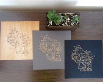 Wisconsin Street Grid Map