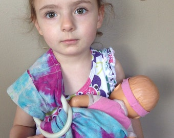 Hand dyed Mini Sling - Doll Ring Sling