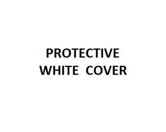 Dog Cushion Protective Cover - White