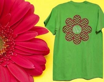 Womens Flower Monogram Shirt