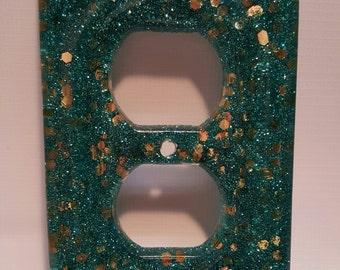 Aqua & Gold Outlet Cover