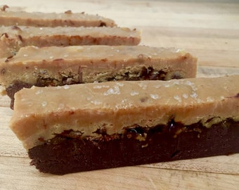 Peanut Butter Chocolate Salted Caramel Bacon Fudge (Naturally Gluten Free)