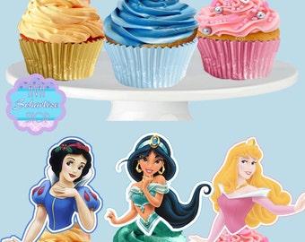 PRINTABLE Disney Princess Cupcake Toppers, Cupcake Picks