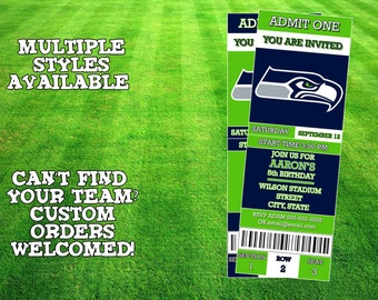 Seattle Seahawks Ticket Invitation