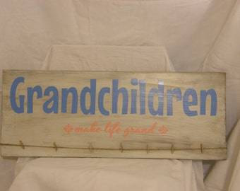 Grandchildren Make Life Grand photo sign