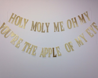 Apple Of My Eye (glitter banner)