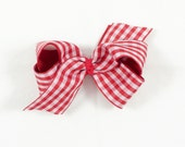 Classic Red Gingham Bow // Christmas Bow // holiday bow