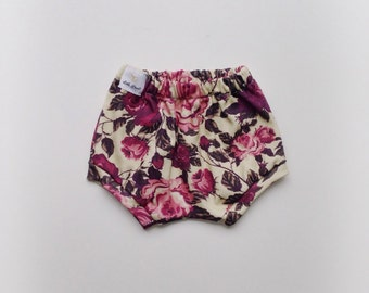 Magenta rose organic cotton knit bloomers
