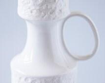 white plaster design vase 50s Germany nordic design Stockholm