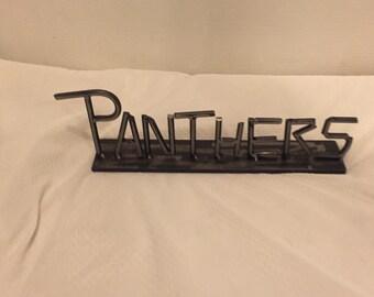 Panthers Metal Statue