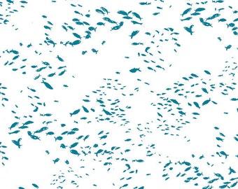 Fish Scholeio Intense  Art Gallery Fabric Skopelos Collection SK-34601 - Fish