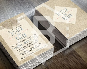 Personalized Rustic Wedding Invitation Design