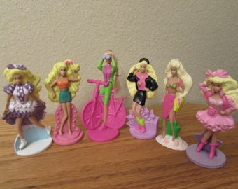 Vintage Barbie for McDonalds, 1991 and 1992 Lot of 6, 4""