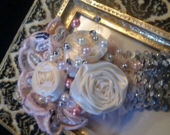 Diva's Headband HBH001 bridal headband, wedding headband, Flower Girl Headband, crystal headband, bridal headband, Photo prop, Baby headband