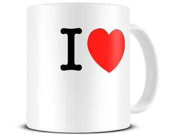 Personalized I Love Mug - Custom Coffee Mug - Personalized Mug - Custom Mugs - Customized Mug  MG467