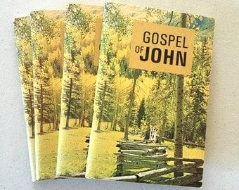 Vintage Gospel of John Bible Pocket Books / Tracts / Testaments / Set of 4