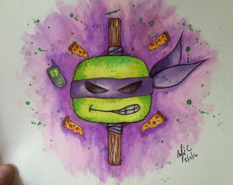 TMNT Dontello Water Color Original Painting.