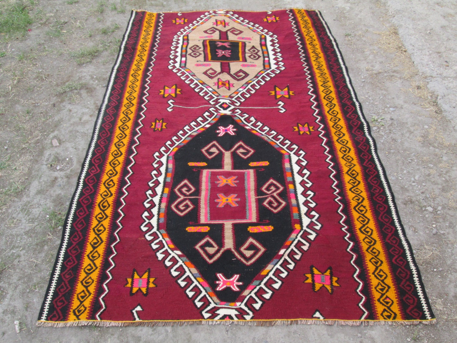 ARMENIA Vintage Kilim Rug Home Decor Rug Turkish By OLDVINSHOP